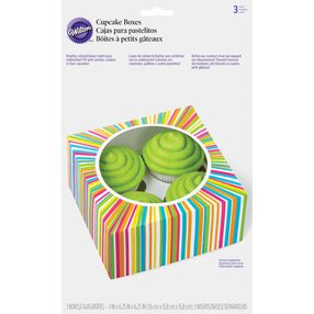 4-Cavity Color Wheel Cupcake Boxs