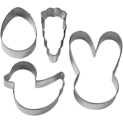 Easter Bunny Metal Cookie Cutter Set
