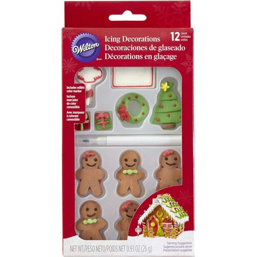 Wilton Christmas Gingerbread Candy Decorations