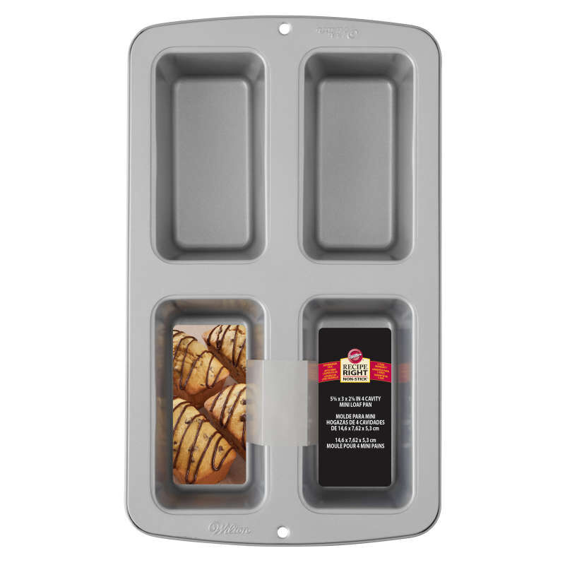 Recipe Right Non-Stick Mini Loaf Pan, 4-Cavity image number 1