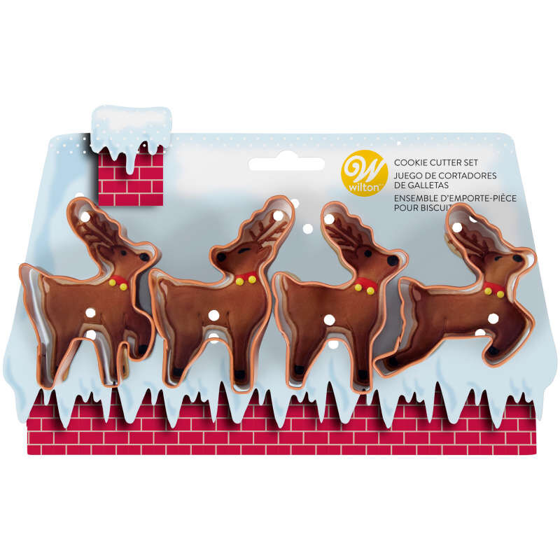 Reindeer Cookie Cutter Set, 4-Piece image number 1
