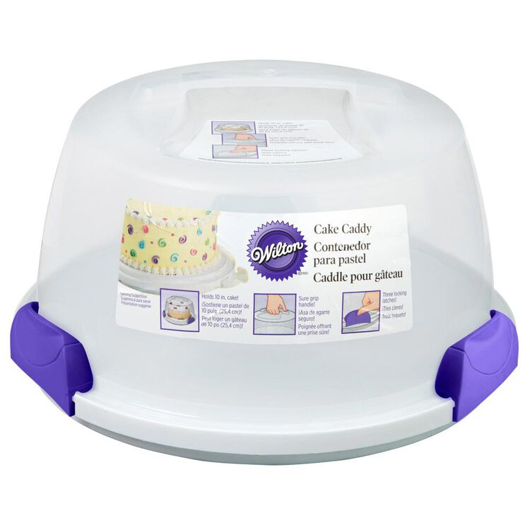Cake Baking and Decorating Supplies - Carry and Display Set,  10-Piece - 9-Inch Round Cake Pan, Cake Caddy, Decorating Tips , 9-Inch Angled Spatula, Bag Cutter and Brush, Icing Tip, 16-Inch Disposable Bags