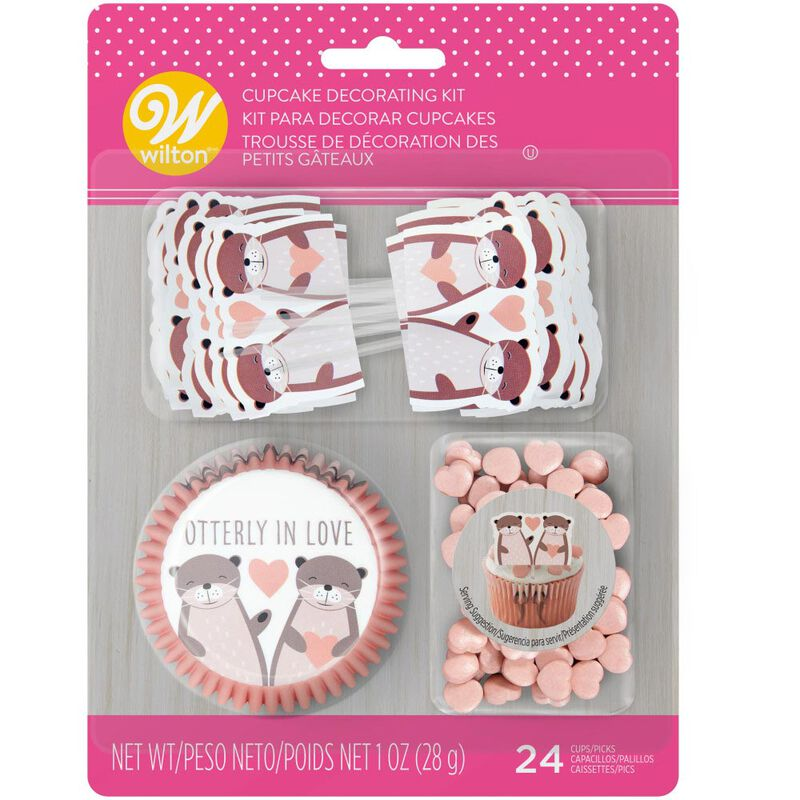 Valentine's Day Otterly in Love Cupcake Decorating Kit image number 0