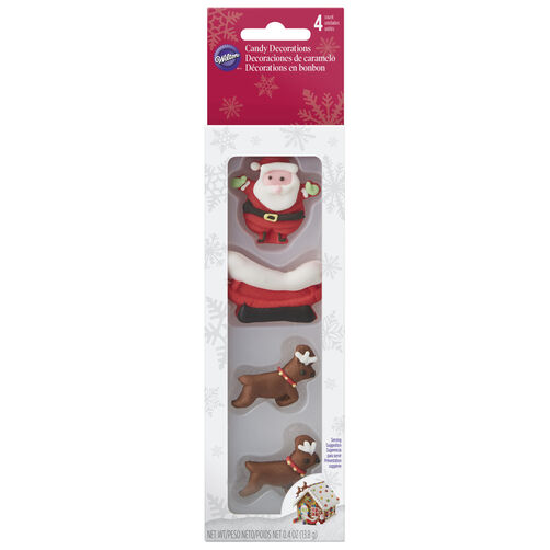 Santa and Reindeer Sleigh Candy Decorations