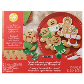 Ready-to-Decorate Gingerbread Cookie Decorating Kit