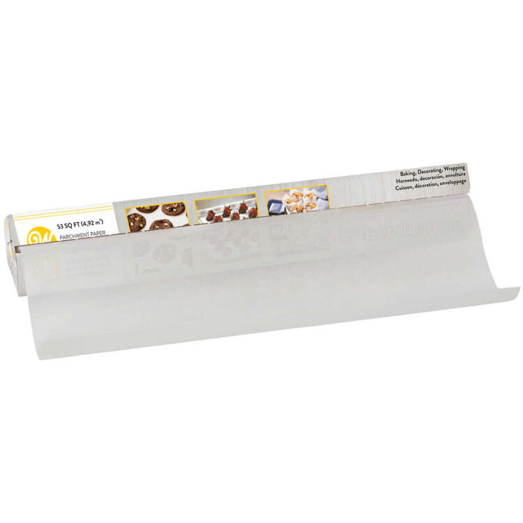 Parchment Paper Pulled Out of Packaging
