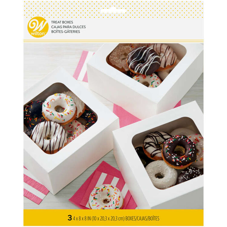 White Square Bakery Boxes in Packaging