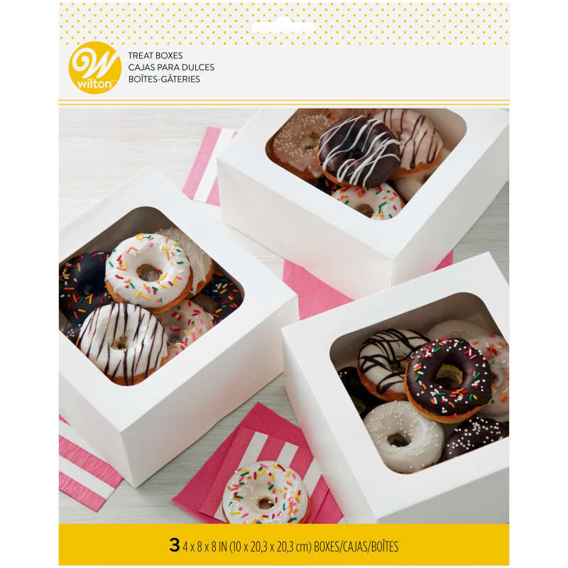 White Square Bakery Boxes in Packaging image number 1