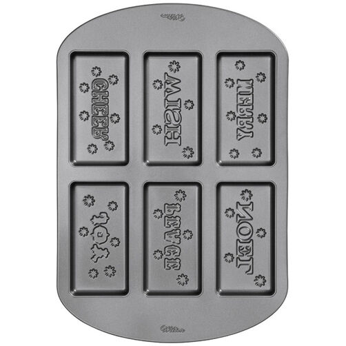 6-Cavity Holiday Words Cookie Pan