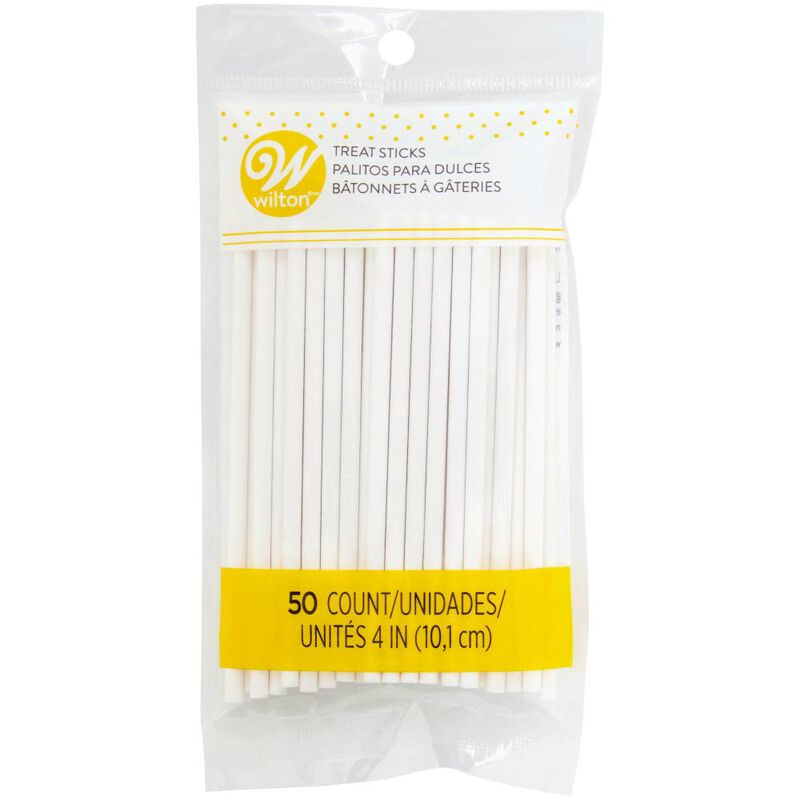 4-Inch White Treat Sticks, 50-Count image number 0