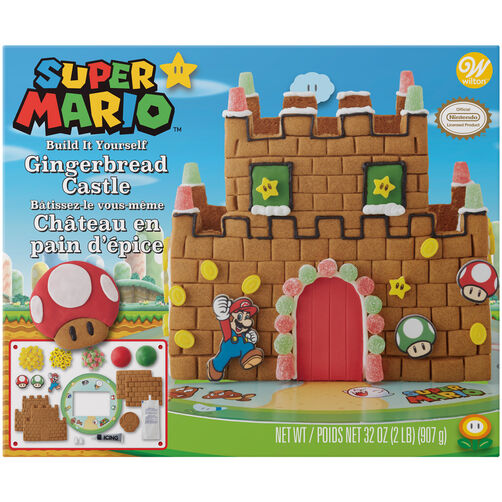 Build-it-Yourself Super Mario by Nintendo Gingerbread Castle Decorating Kit