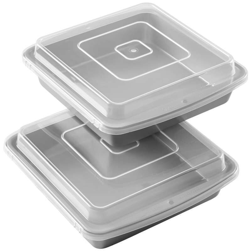 Recipe Right Non-Stick 9-Inch Square Brownie Baking Pan with Lid, Multipack of 2 image number 0