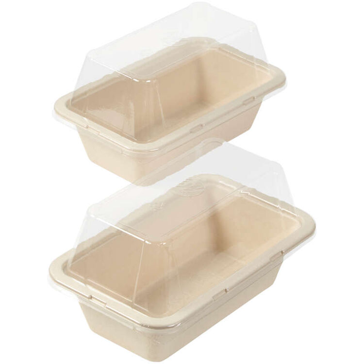 Disposable Loaf Baking Pans with Lids Set, 2-Count