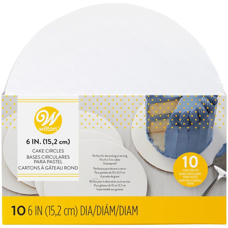 6-Inch Round Cake Boards, 10-Count image number 1
