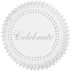 Silver Celebrate Cupcake Liners
