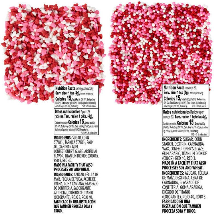 Valentine's Day Sprinkles Nutrition Facts