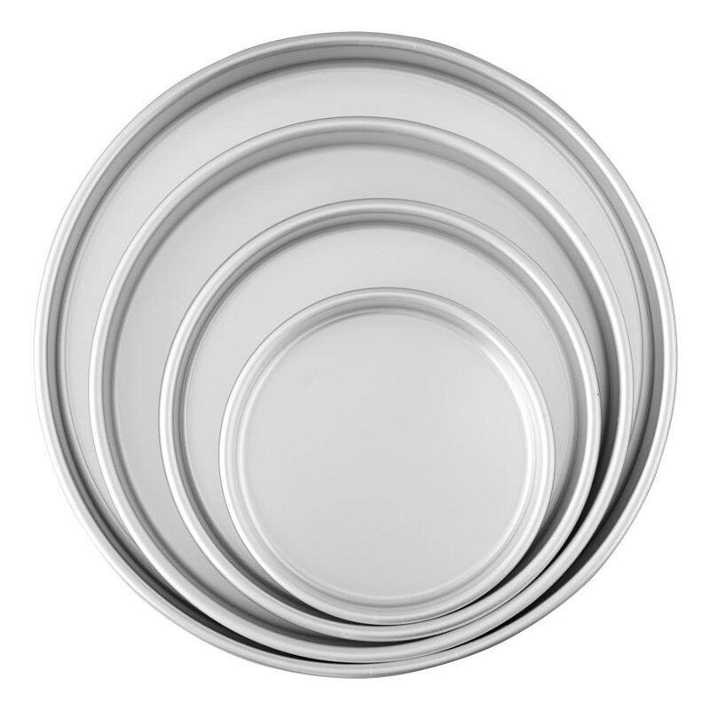 Round Cake Pans, 4 Piece Set for 6-Inch, 8-Inch, 10-Inch and 12-Inch Cakes image number 0