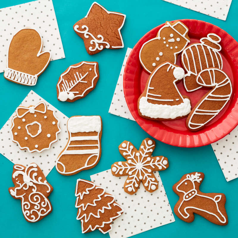 Holiday Shapes Metal Cookie Cutter Set, 18-Piece image number 6