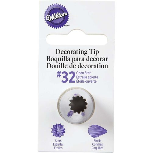 Decorator Tips: No. 32 Open Star Decorating Tip