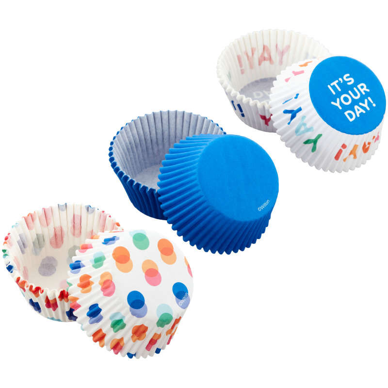 Blue, Polka Dot and It's Your Day Baking Cups, 75-Count image number 3
