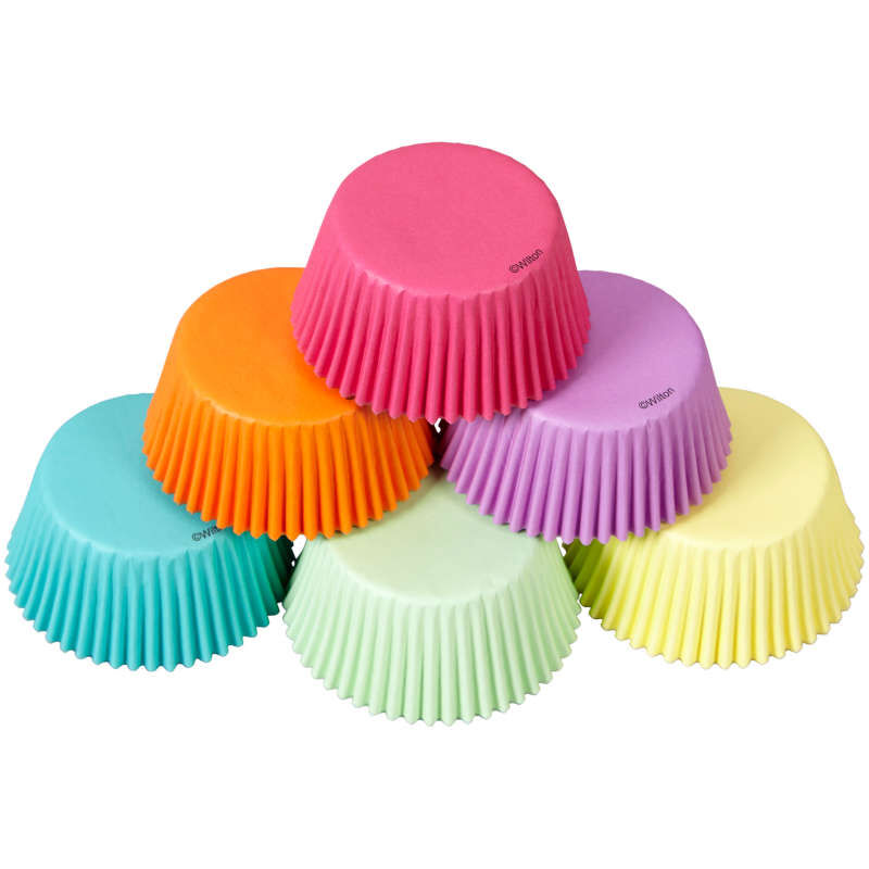 Pastel Rainbow Cupcake Liners, 150-Count image number 2