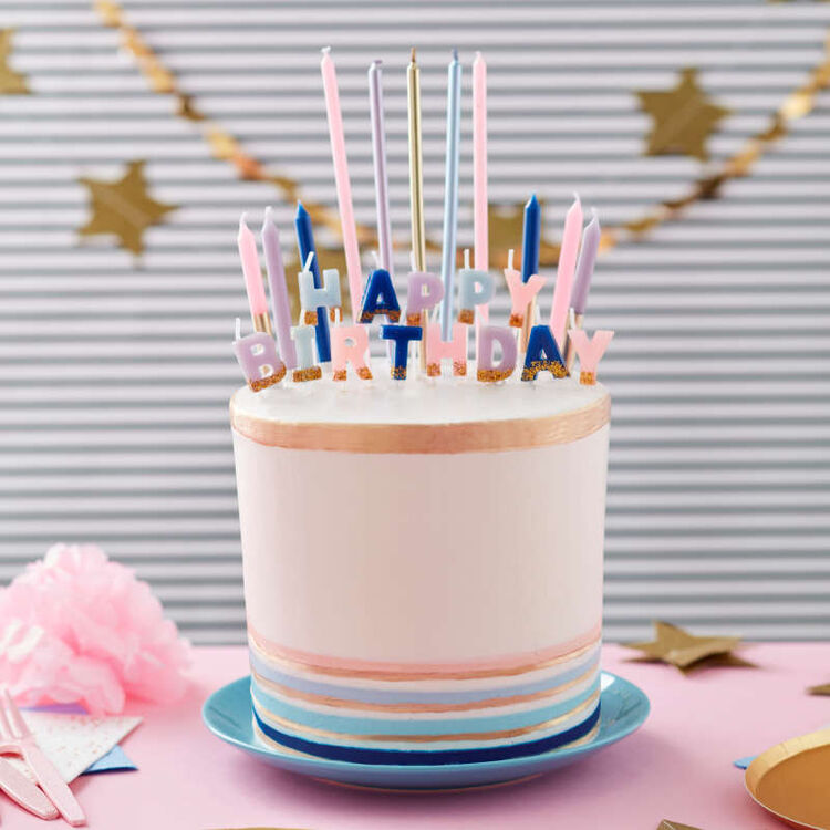 Floral Party Birthday Candle Set, 25-Count