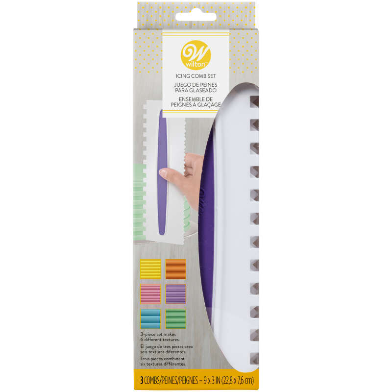 Icing Smoother Comb Set - 3 Piece image number 1