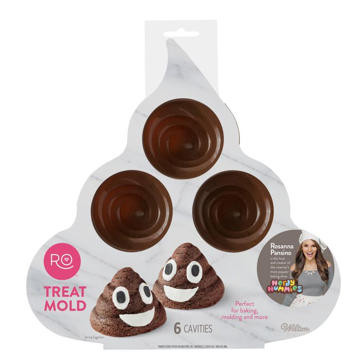 ROSANNA PANSINO by Silicone Poop Emoji Cake Pan - 6-Cavity Silicone Candy Mold