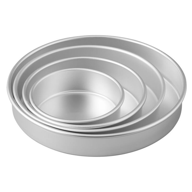 Round Cake Pans, 4 Piece Set for 6-Inch, 8-Inch, 10-Inch and 12-Inch Cakes image number 2