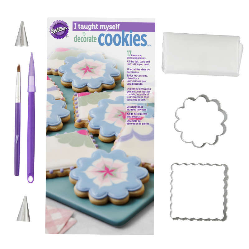 """""""I Taught Myself To Decorate Cookies"""" Cookie Decorating Book Set - How To Decorate Cookies image number 3"""