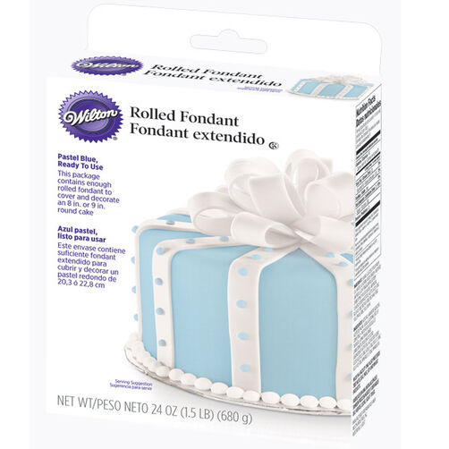 Ready-To-Use Pastel Blue Rolled Fondant