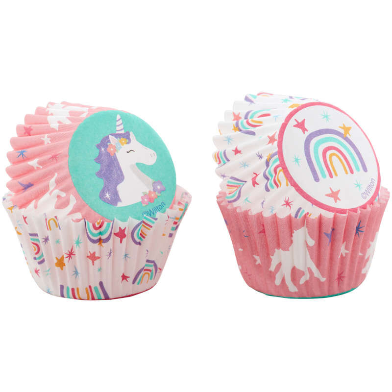 Unicorn and Rainbow Mini Cupcake Liners, 100-Count image number 2