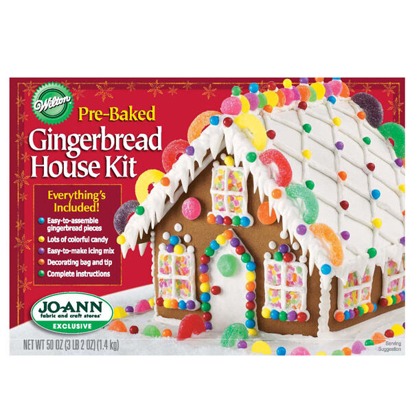 Delightful Pre Baked Gingerbread House Kit | Wilton