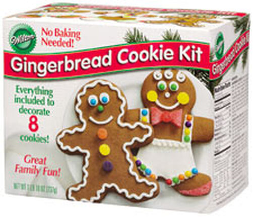 Pre-Baked Gingerbread Boy Cookie Decorating Kit