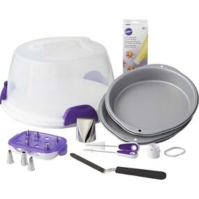 Bake, Decorate, Carry and Display Cake Set