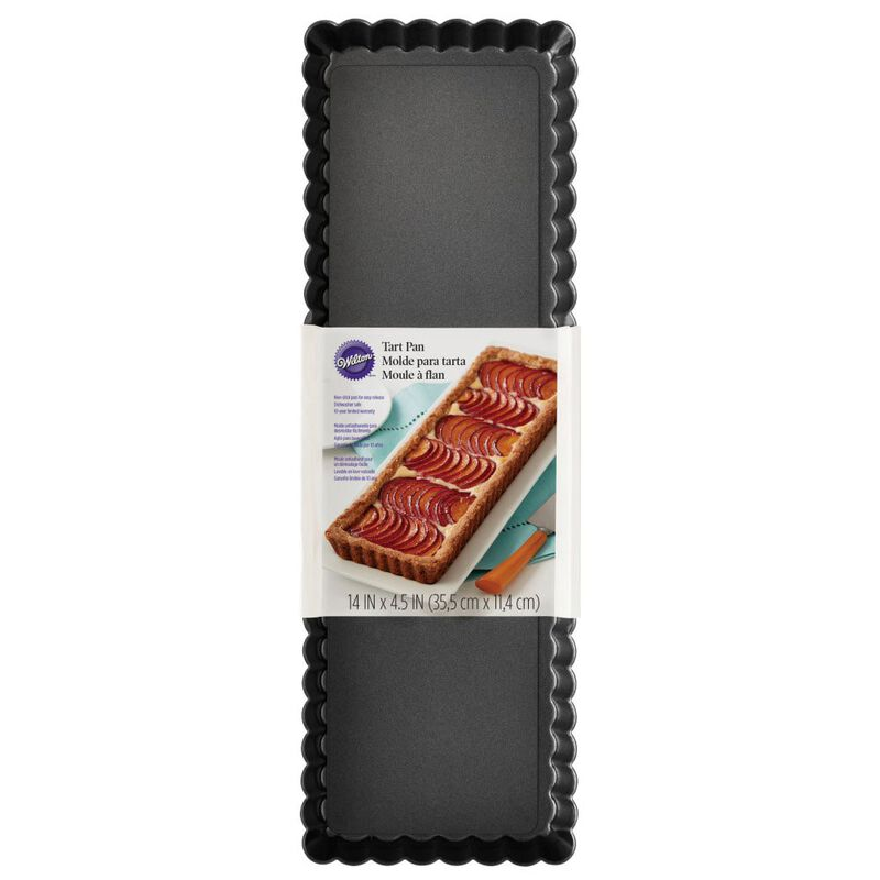 Extra Long Non-Stick Tart and Quiche Pan, 14 x 4.5-Inch image number 1
