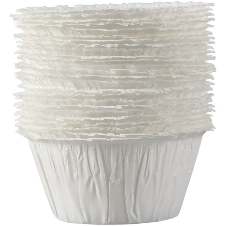 White Ruffled Cupcake Liners, 24-Count
