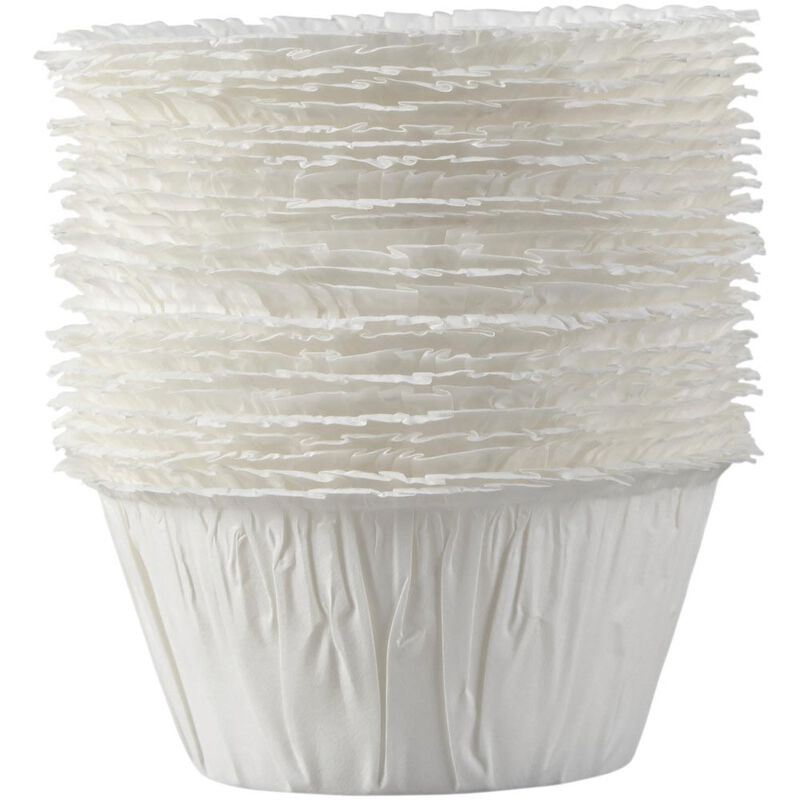 White Ruffled Cupcake Liners, 24-Count image number 0