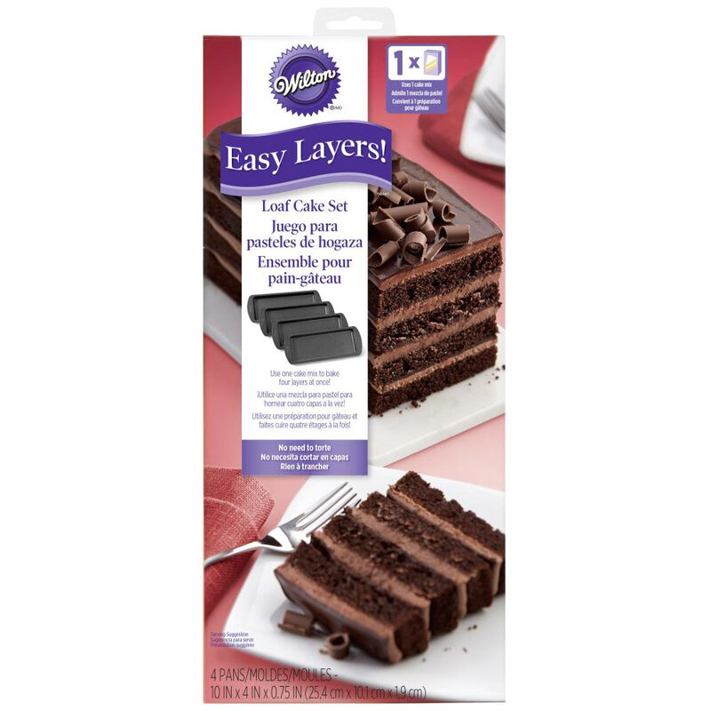 Easy Layers! 10 x 14-Inch Loaf Cake Pan Set, 4-Piece image number 1