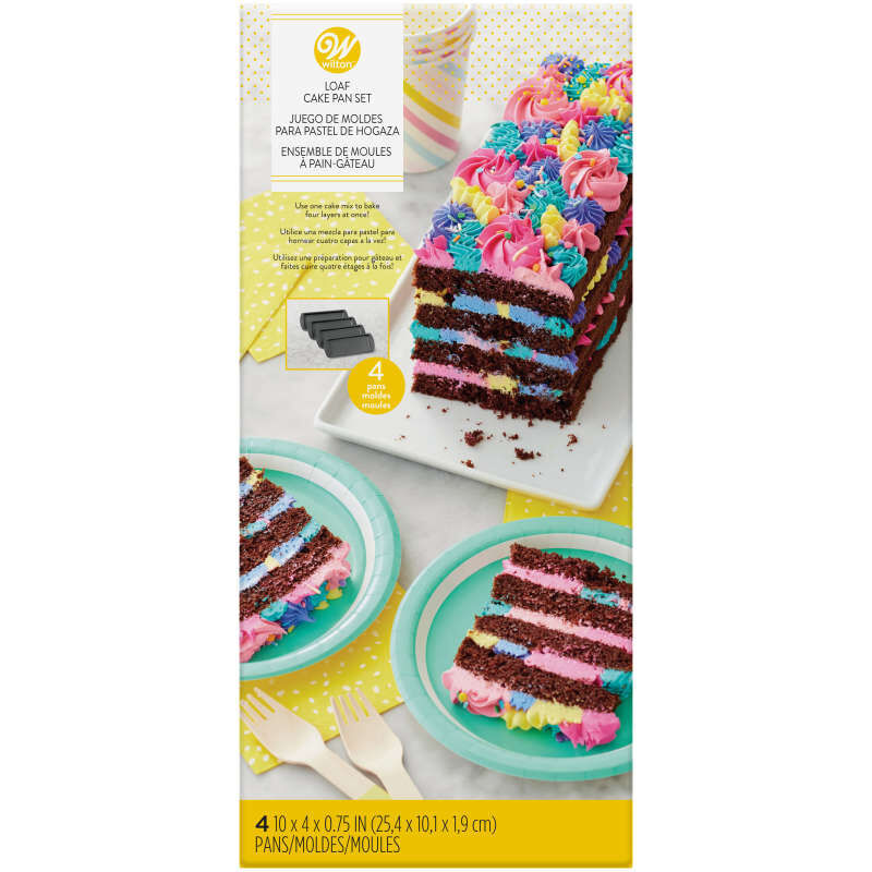 Easy Layers! 10 x 4-Inch Loaf Cake Pan Set, 4-Piece image number 0