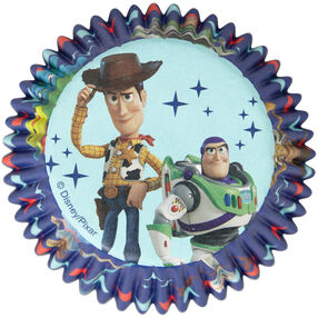 Disney Pixar Toy Story 4 Cupcake Liners, 50-Count, featuring Buzz Lightyear and Woody