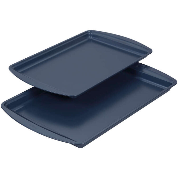 Diamond-Infused Non-Stick Navy Blue Baking Set, 7-Piece