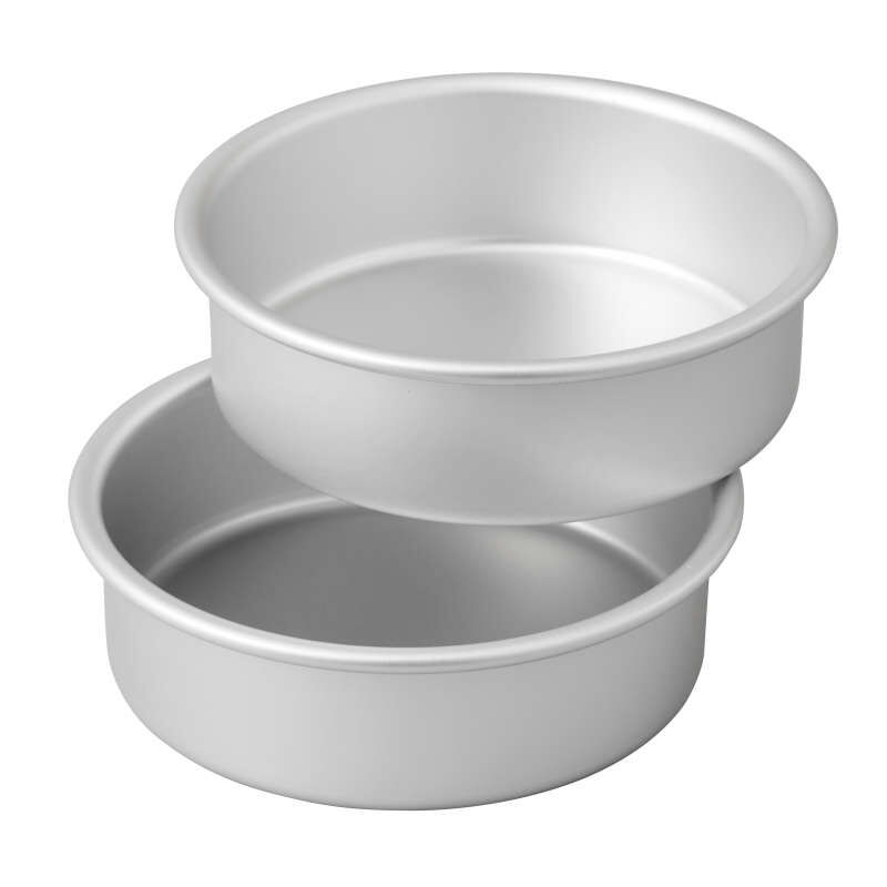 Small and Tall 6 x 2-Inch Aluminum Cake Pan Set, 2-Piece image number 0