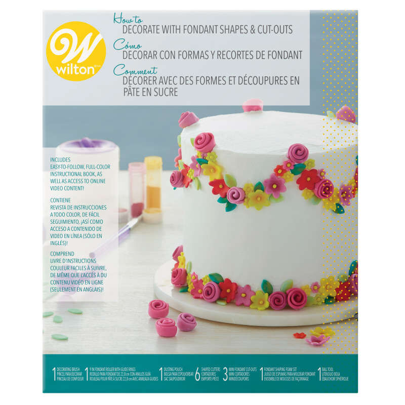 How to Decorate with Fondant Shapes and Cut-Outs Kit, 14-Piece image number 1