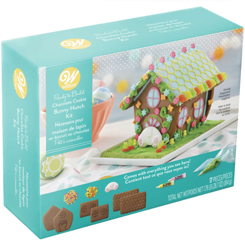 Ready-to-Build Chocolate Cookie Bunny Hutch Kit image number 1
