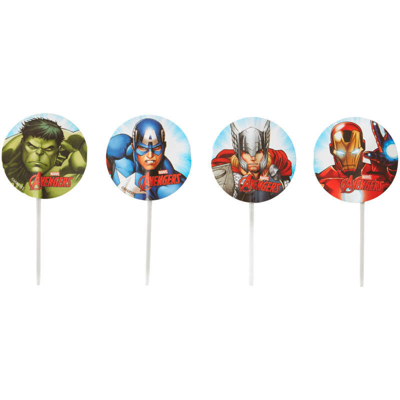 Marvel's Avengers Cupcake Toppers, 24-Count image number 0