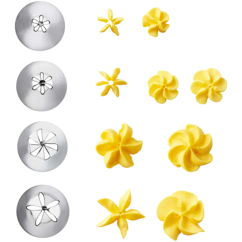 Cake Decorating Drop Flower Tips, 4-Piece Piping Tips Set image number 1