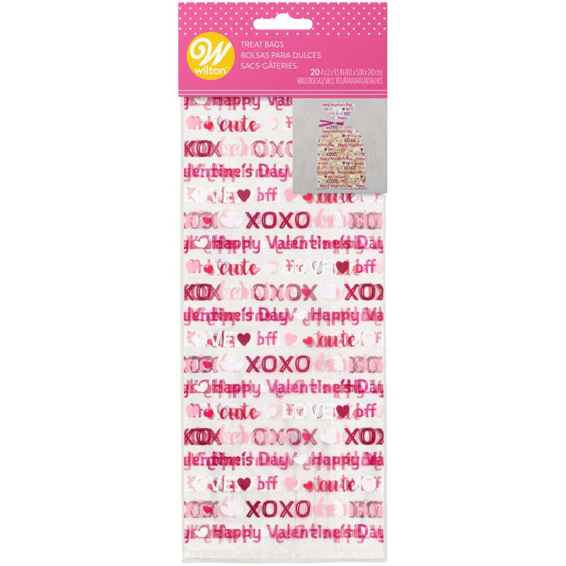 Say it With Words Valentine's Day Treat Bags, 20-Count image number 2
