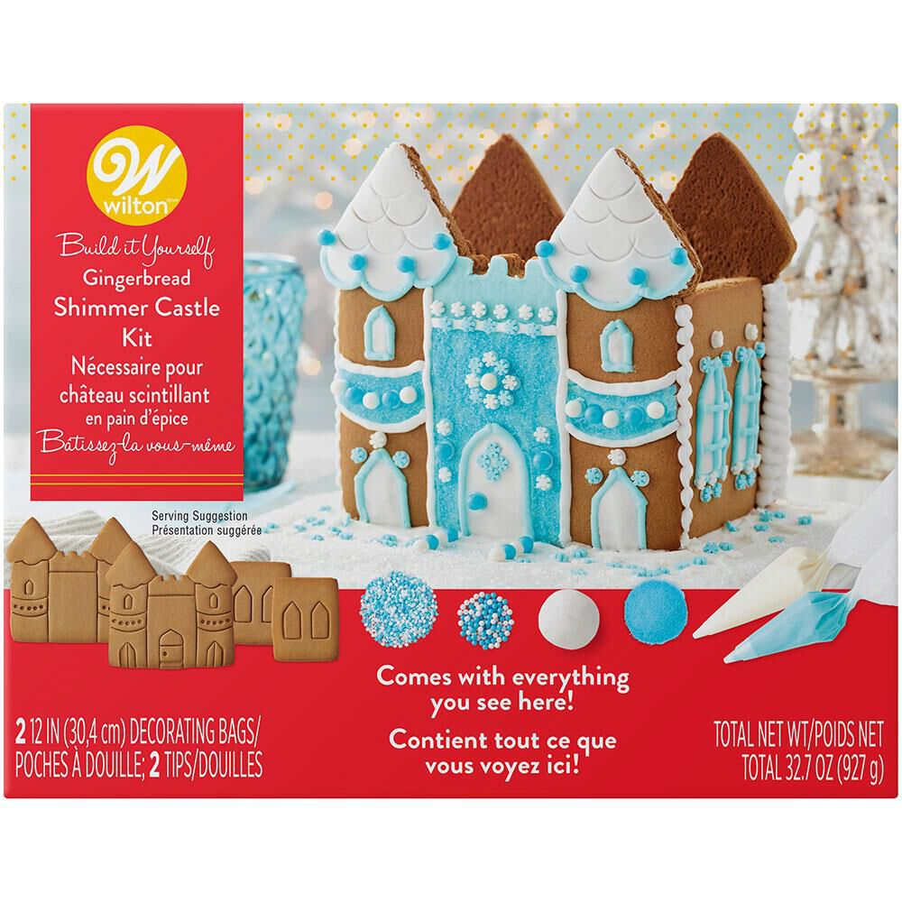 Build it Yourself Shimmer and Sparkle Gingerbread Castle Decorating Kit