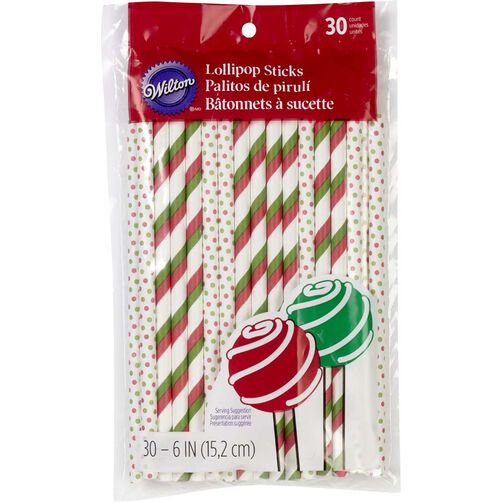 Red & Green Lollipop Sticks
